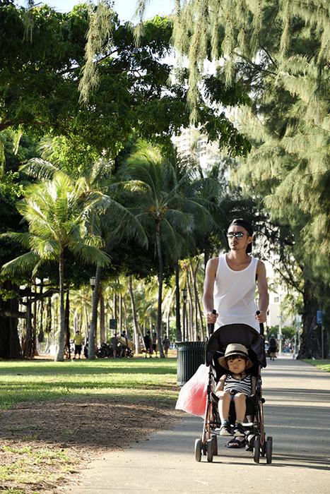 ハワイで朝の散歩