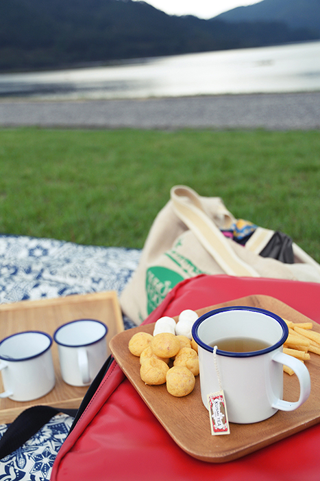 八千代湖でお茶