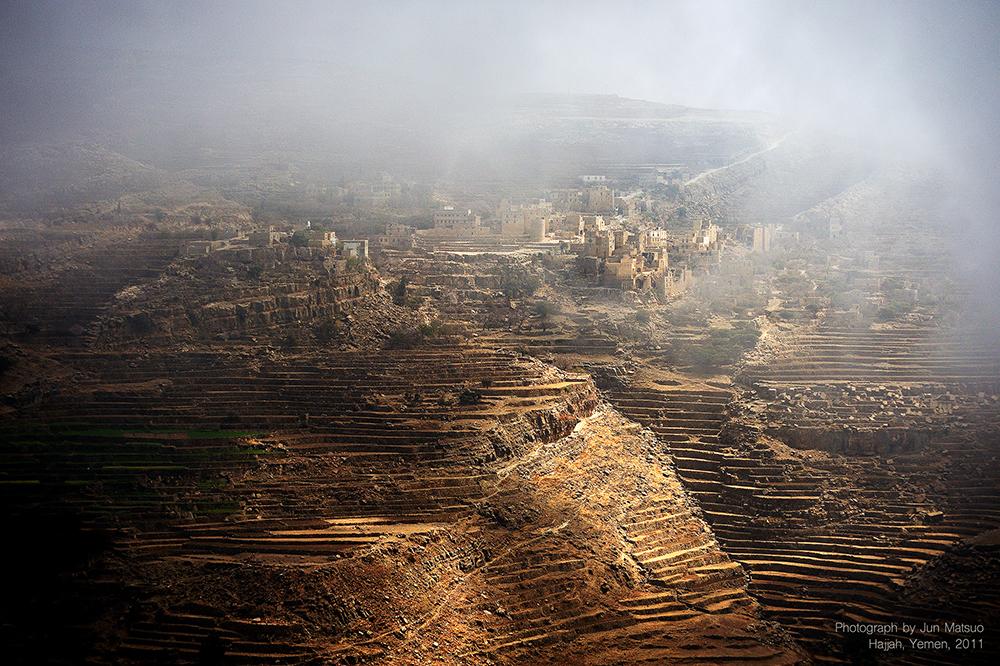 イエメンのハッジャ県の段々畑